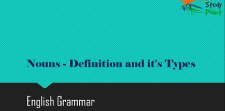 Nouns - Definition and it's Types