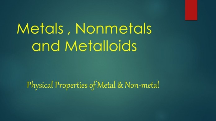Physical Properties of Metal & Non-metal