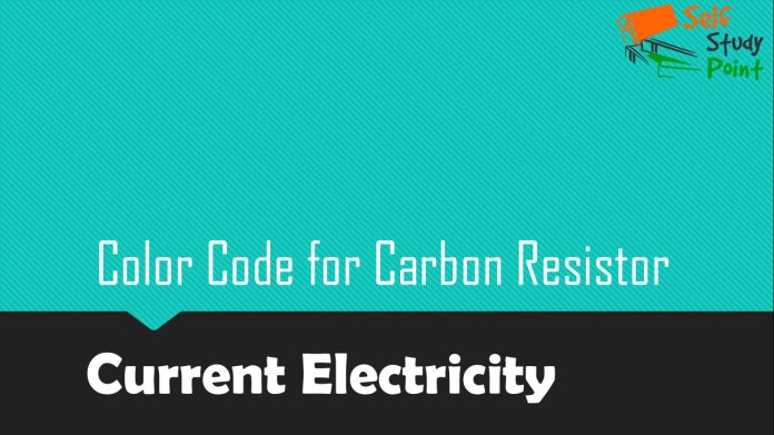 Color Code for Carbon Resistor