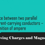 Force between two parallel current-carrying conductors – definition of ampere