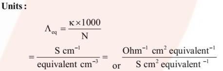 Equivalent Conductivity unit