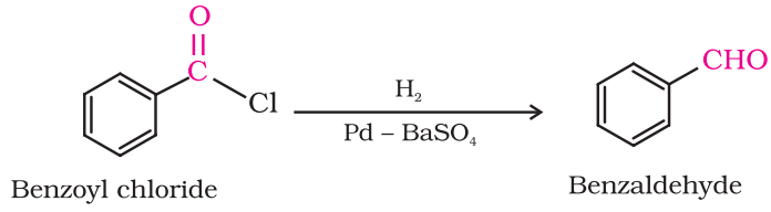 Preparation of Aldehydes From acyl chloride (acid chloride)- Rosenmund reduction