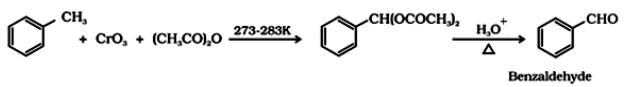 Preparation of Aldehydes By oxidation of methylbenzene