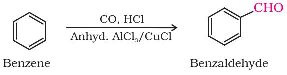 By Gatterman – Koch reaction