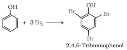 The reaction of phenol with bromine water