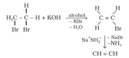 Preparation of Alkynes from vicinal dihalides