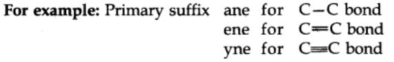 Primary Suffix
