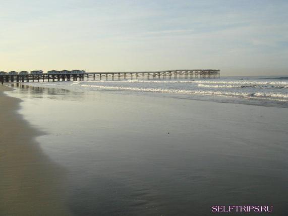 The beach near Pacific Terrace inn, San Diego