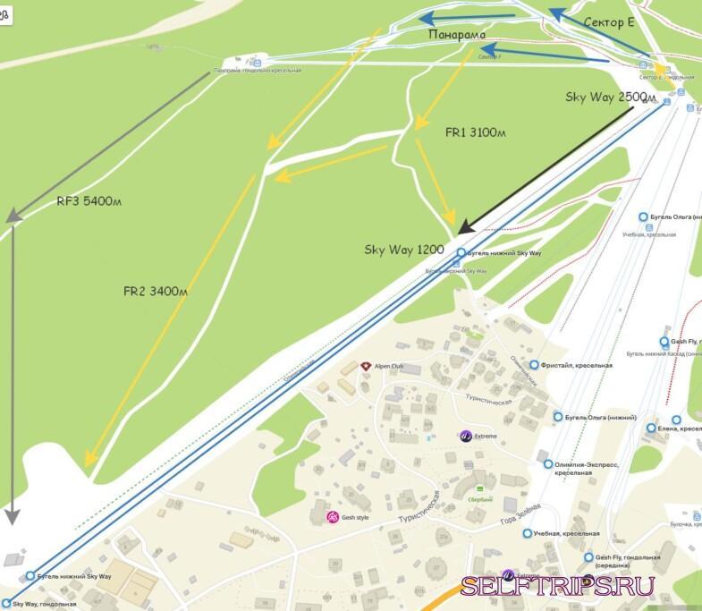 Шерегеш: карта трасс, подъемников, гостиниц в хорошем качестве