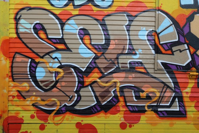 self selfuno graffiti piece funk letters ktown pico union los angeles 2013