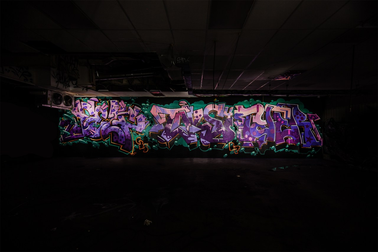 self selfuno take4 tyer cbs crew graffiti downtown los angeles dtla container yard piece letters light painting production december 2014