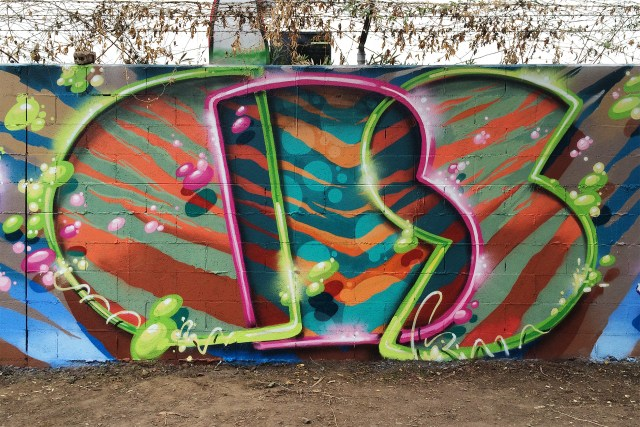self selfuno cbs crew graffiti wall hollywood los angeles letters piece december 2014