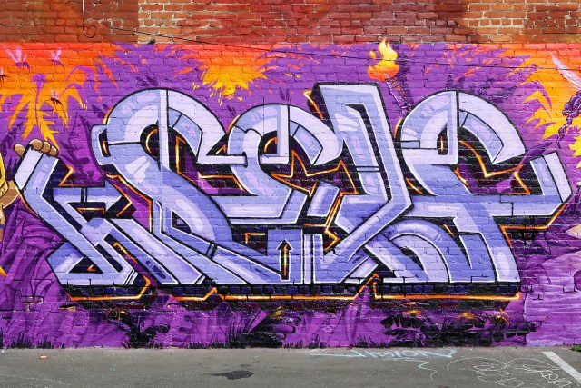 self selfuno graffiti grafflab los angeles pico union piece burner letters tiki theme production cbs crew june 2014