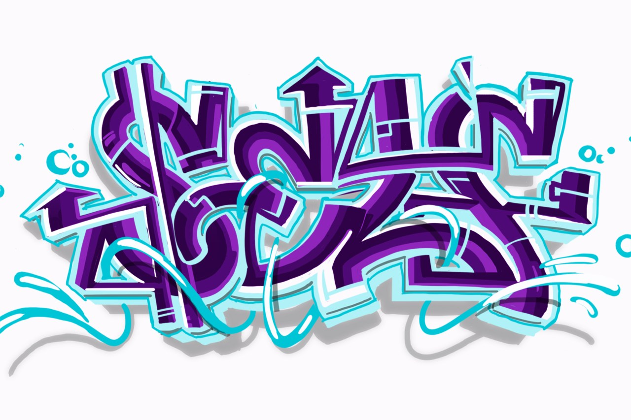 self selfuno graffiti letter piece sketch digital illustration conjunction style june 2013