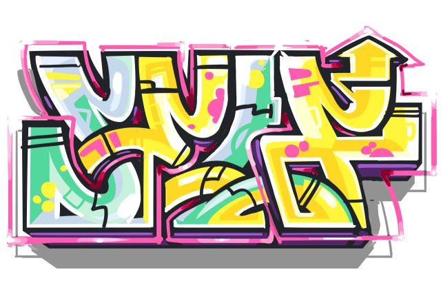 self selfuno graffiti letter piece sketch digital illustration flat top style october 2013
