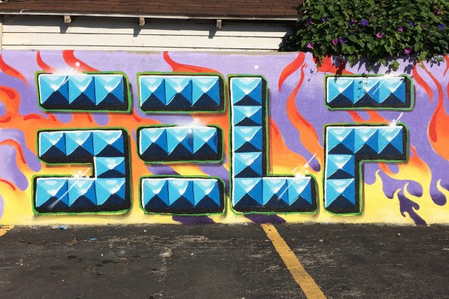 self selfuno graffiti los angeles hollywood letters punk rock pyramid stud january 2015