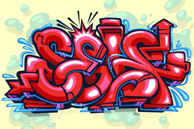 self selfuno graffiti outline piece digital art illustration letters long arrow sketch january 2014