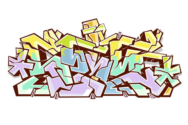 self selfuno graffiti outline sketch letters digital art illustration july 2006