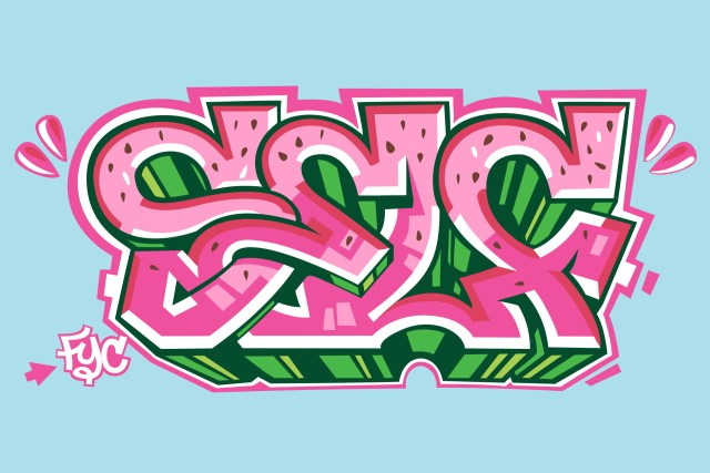 self selfuno graffiti outline sketch letters digital art illustration june 2010