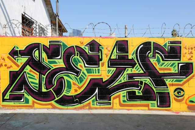 self selfuno graffiti piece letters westlake los angeles dtla downtown alley june 2013