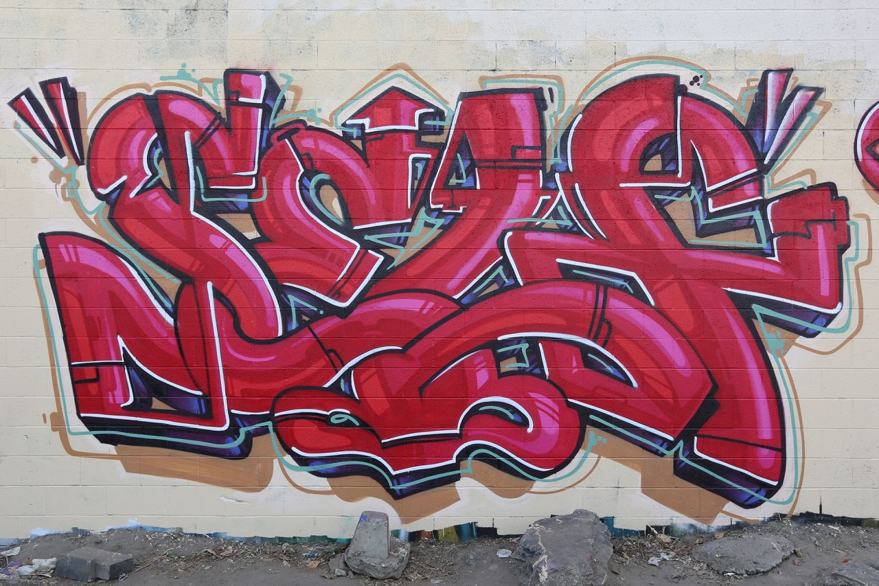 self selfuno graffiti trackside piece letters los angeles city of industry la puente august 2013