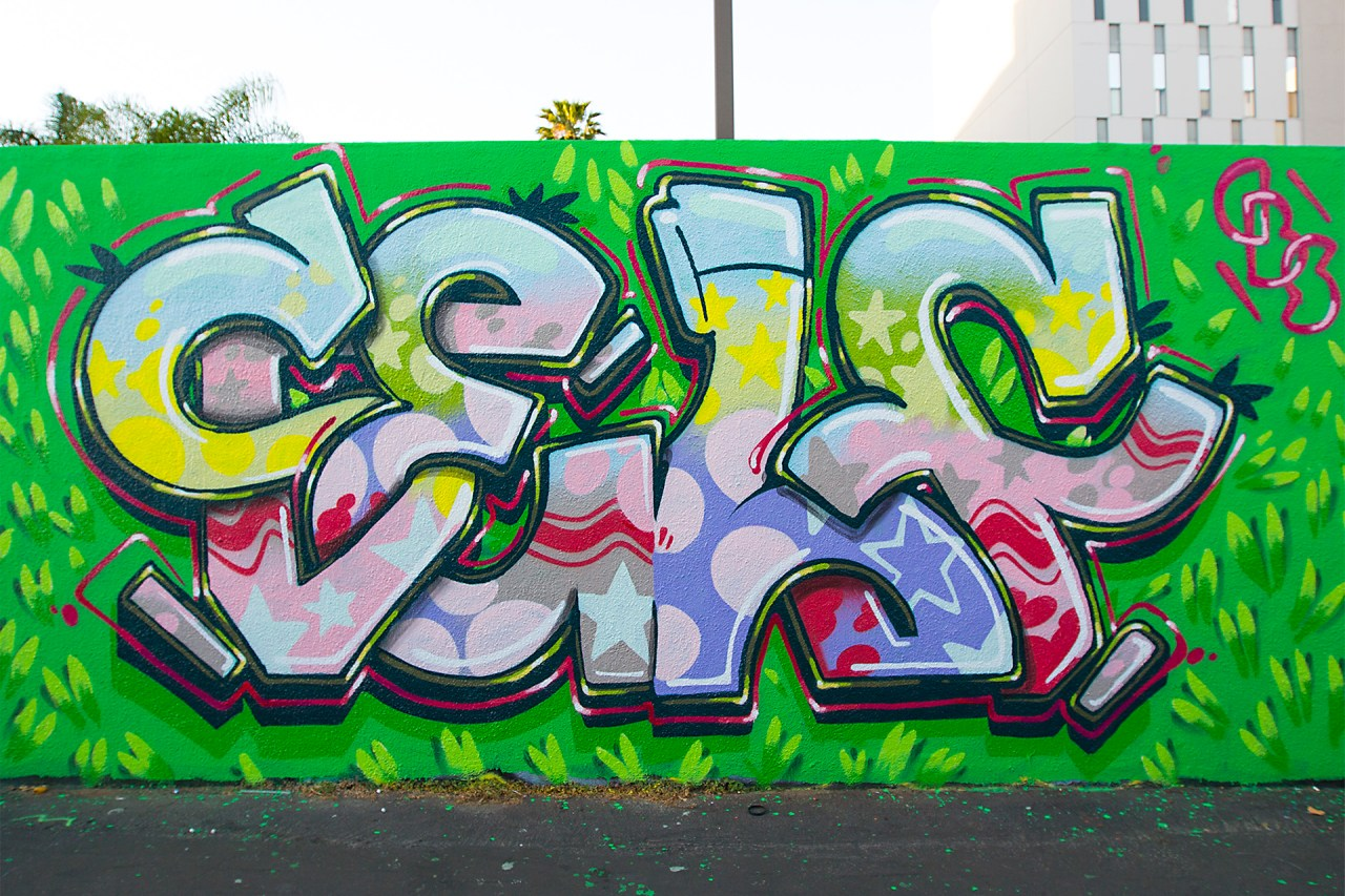 self selfuno hollywood holiday alley easter graffiti production letters funk april 2015