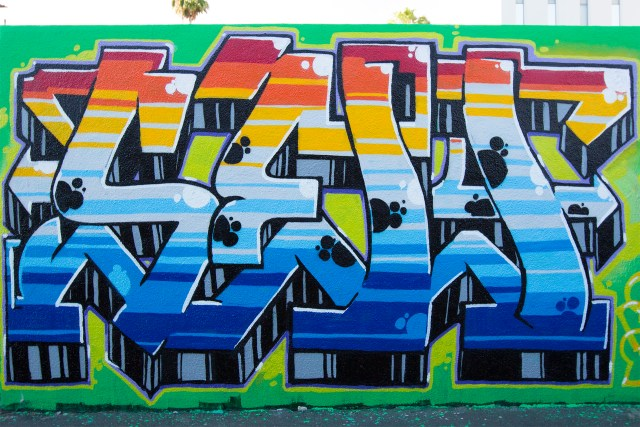 self uno selfuno graffiti losangeles hollywood piece letters burner may 2015