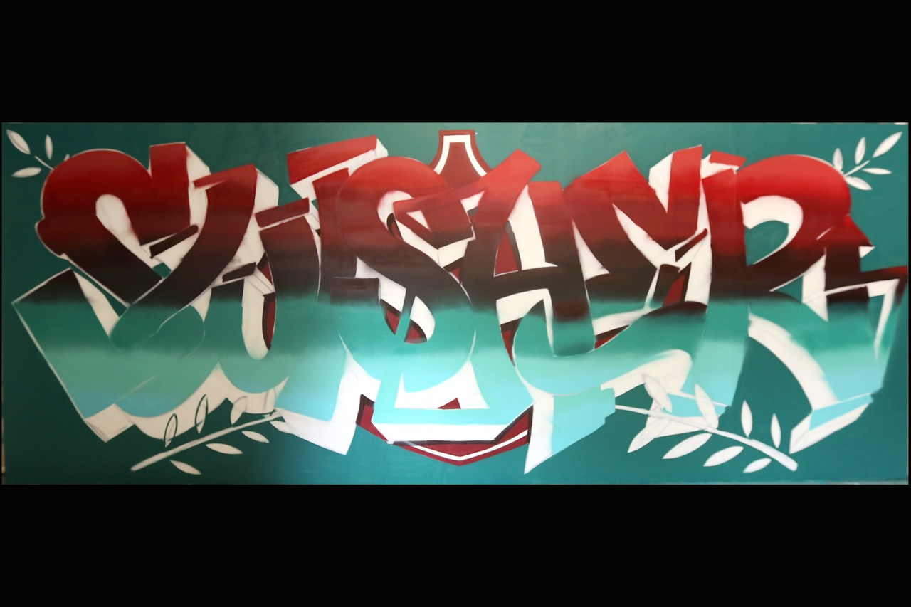 self uno selfuno graffiti artist for hire commission swisher sweets sweeties mural photoshoot progress shots 007