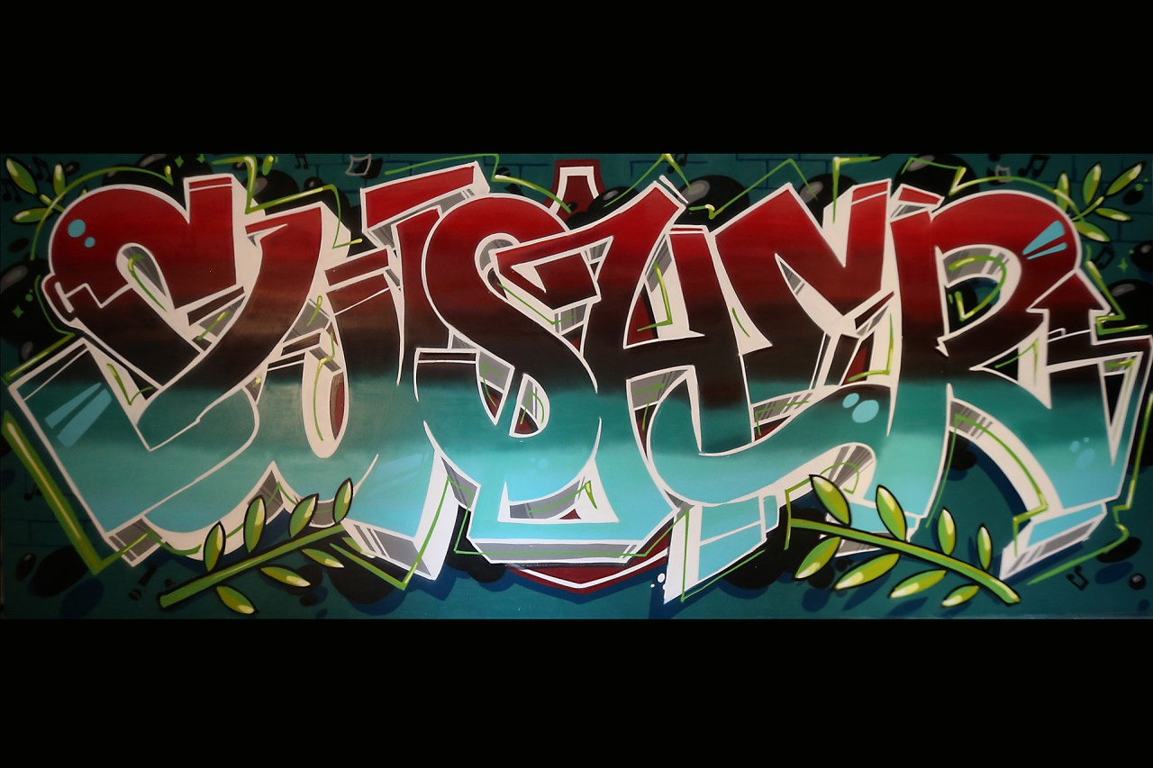 self uno selfuno graffiti artist for hire painting commission swisher sweets final wall july 2015