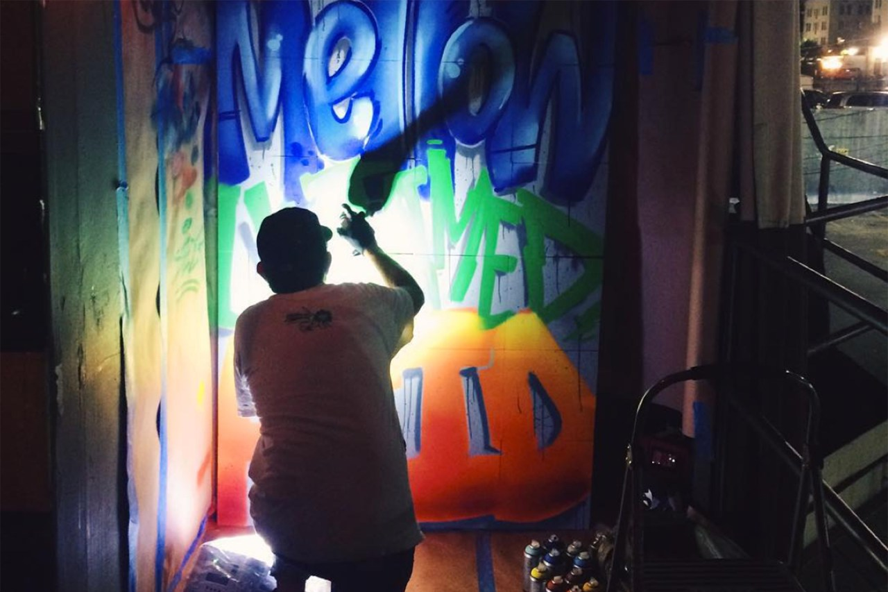 self uno selfuno live painting graffiti artist for hire los angeles hollywood drew estates swisher sweets experience acid cigarillos graffitiusa klughaus gallery