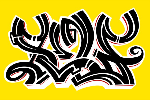 self selfuno blackletter connections calligraphy graffiti style letters piece art artist photoshop illustrator 2013