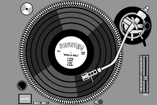 technics sl1200 digital illustration photoshop illustrator tee shirt design disaster grey self selfuno skateboarding punk rock hardcore 2010