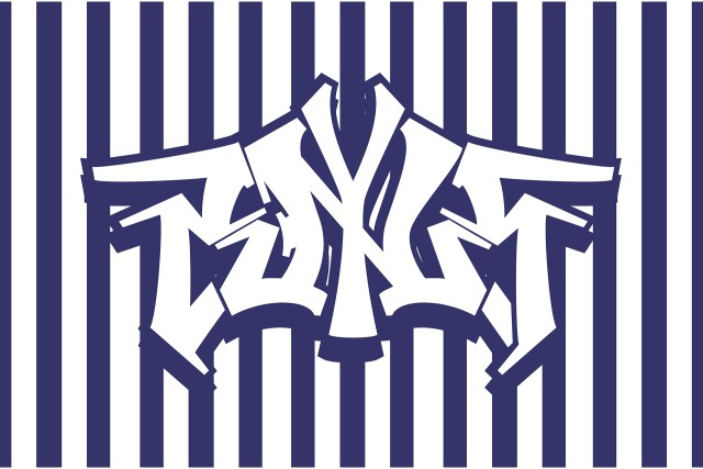 self reflection ny pinstripes letters symmetry illustrator graphic design may 2000
