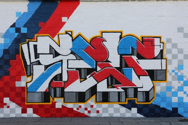 selfuno graffiti piece bmw style funky flavor pic blvd los angeles july 2016