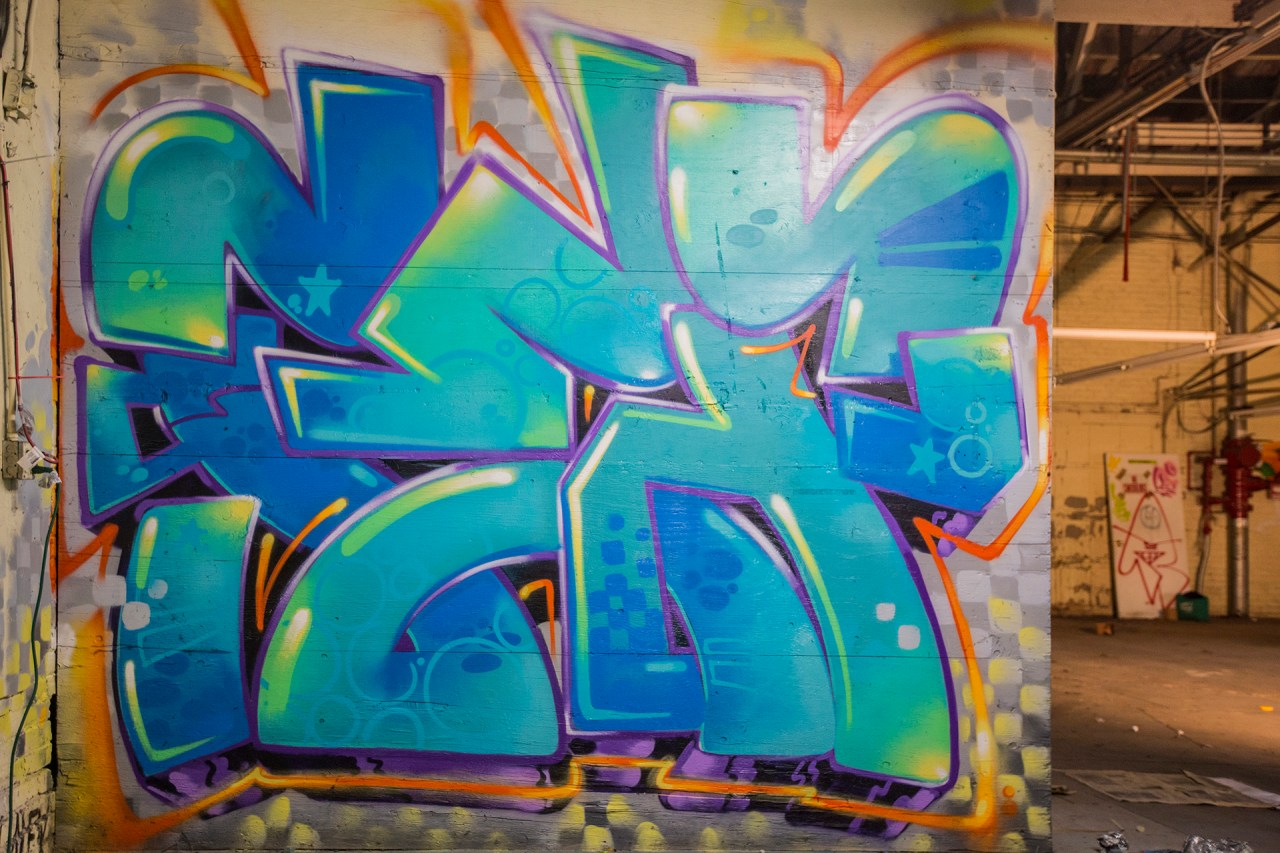 selfuno self party graffiti piece los angeles dtla boyle heights burner letters connections outline funk wave january 2017