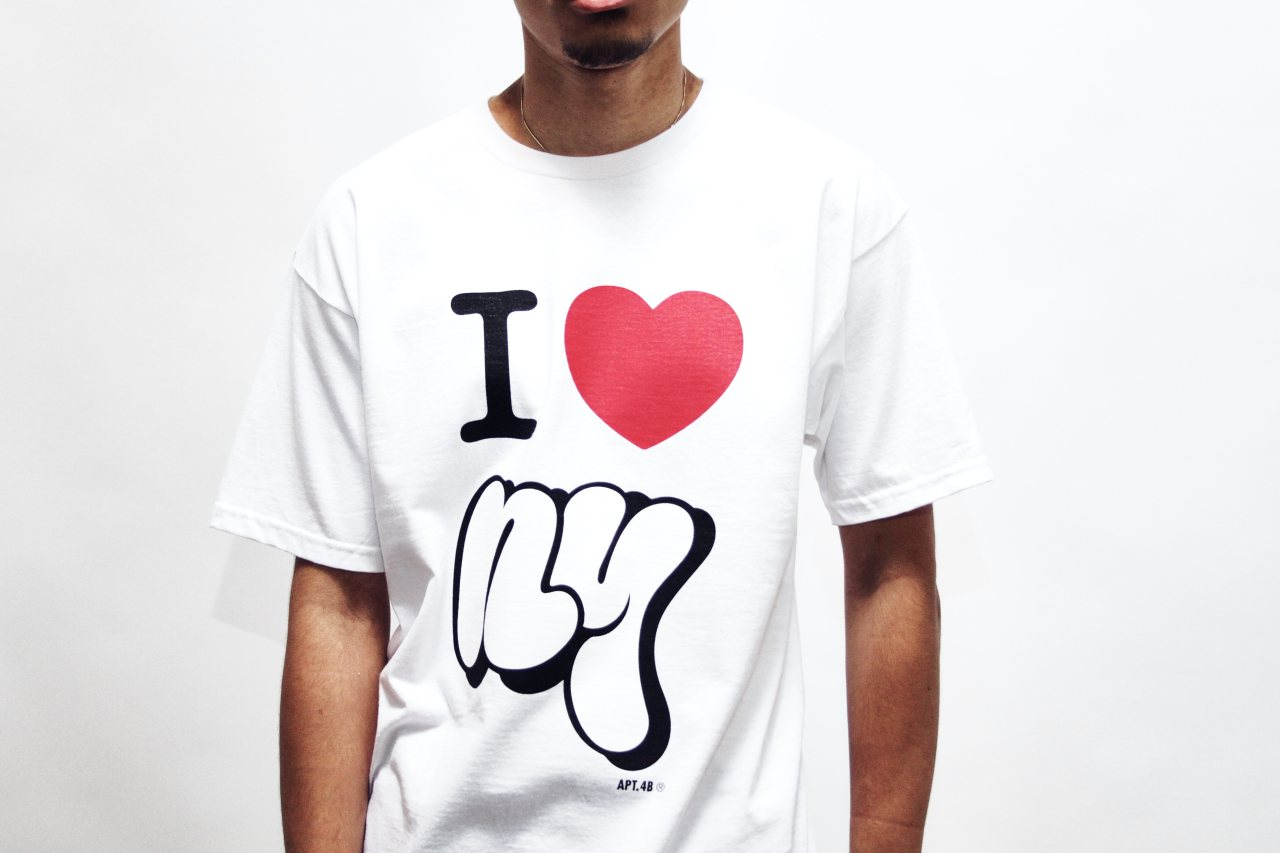 I Heart NY white tee shirt self uno design