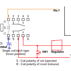 Wiring Diagram For Latching Relay 1000 Watt Inverter Circuit Excel Hei Distributor Spark Plug Wire