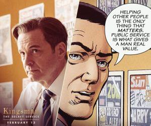 Kingsman Colin and Comic Book