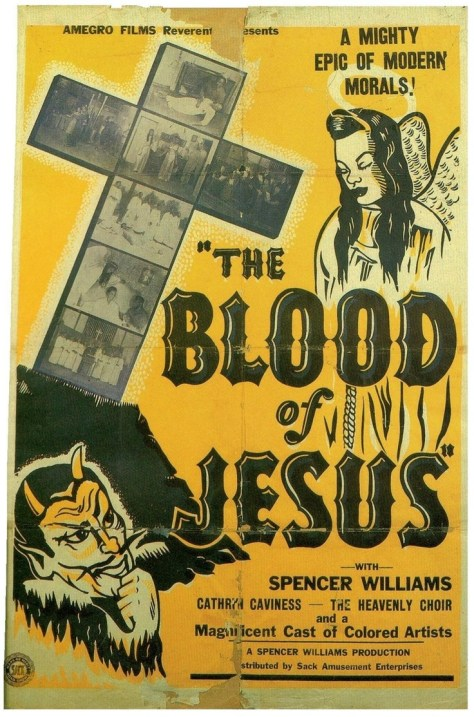 THE BLOOD OF JESUS 1941 poster