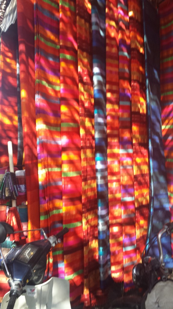 Colourful Scarves at the Souks in Marrakech