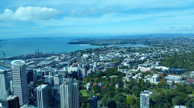 View of Auckland Harbour from Sky Tower