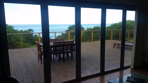 French doors for enjoying the seaviews