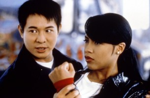 Romeo Must Die: Aaliyah trained to act as Jet Li's weapon for this scene.