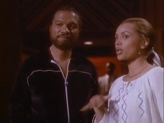 Billy Dee Williams and Vanessa Williams as Berry Gordy and Suzanne de Passe