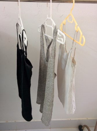4 (only 3 pictured here) tank tops to wear underneath clothes or to wear with cardigans.