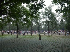 Temple of Heaven. Lots of people doing their morning exercises.