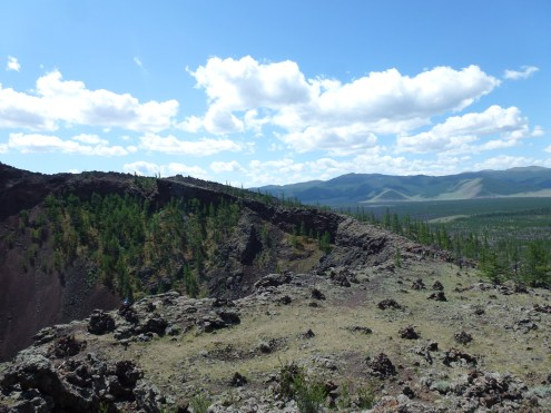 Another view from the crater.