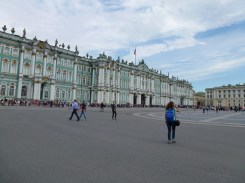 The start of the line on free admission day into The Hermitage.
