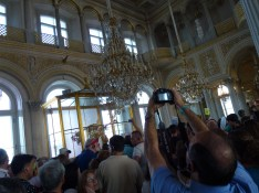 Running into all the tour groups again inside The Hermitage.