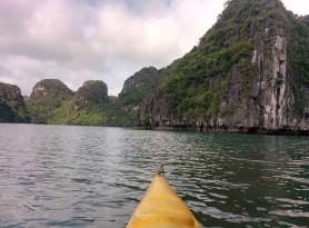 Kayaking on the bay.